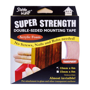 Double Sided High Bond Acrylic Foam Tape (12Mm X 8M), ,Steve & Leif - greenleif.sg