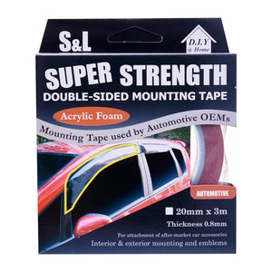 Double Sided High Bond Automotive Acrylic Foam Tape (20Mm X 3M), ,Steve & Leif - greenleif.sg