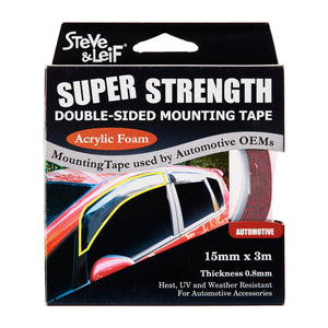 Double Sided High Bond Automotive Acrylic Foam Tape (15Mm X 3M), ,Steve & Leif - greenleif.sg
