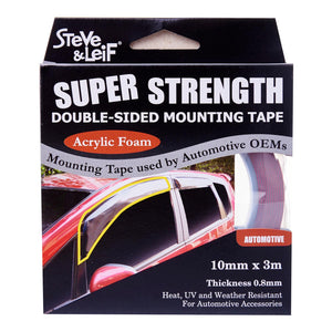 Double Sided High Bond Automotive Acrylic Foam Tape (10mm x 3m), ,Steve & Leif - greenleif.sg