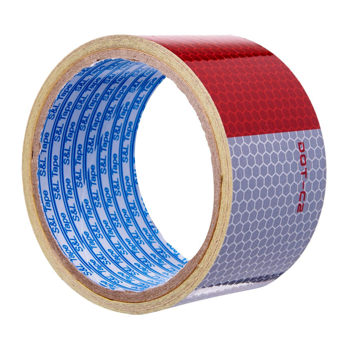 Grade A Red/Silver Automotive Reflective Tape || (48mm x 3M)