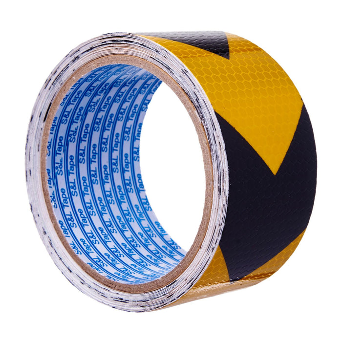 Grade A Yellow/Black Reflective Tape >> (48mm x 5M)