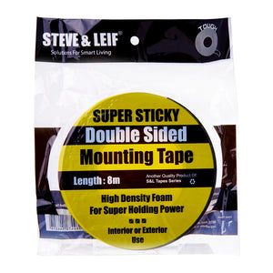 Steve & Leif Double Sided Super Sticky Black Foam Tape (8m), ,Steve & Leif - greenleif.sg