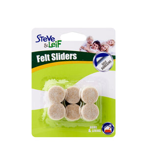 Self Adhesive Furniture Felt Sliders (19mm), ,Steve & Leif - greenleif.sg