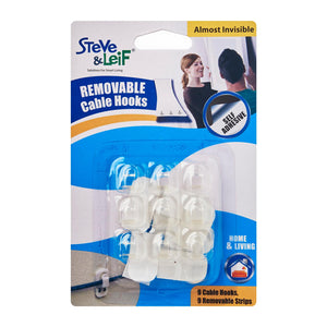 Removable Cable Hooks (M) 9pcs, ,Steve & Leif - greenleif.sg