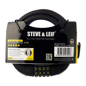 Spiral Combination Lock with Bracket (12mm x 1800mm), Bicycle Accessroies,Steve & Leif - greenleif.sg