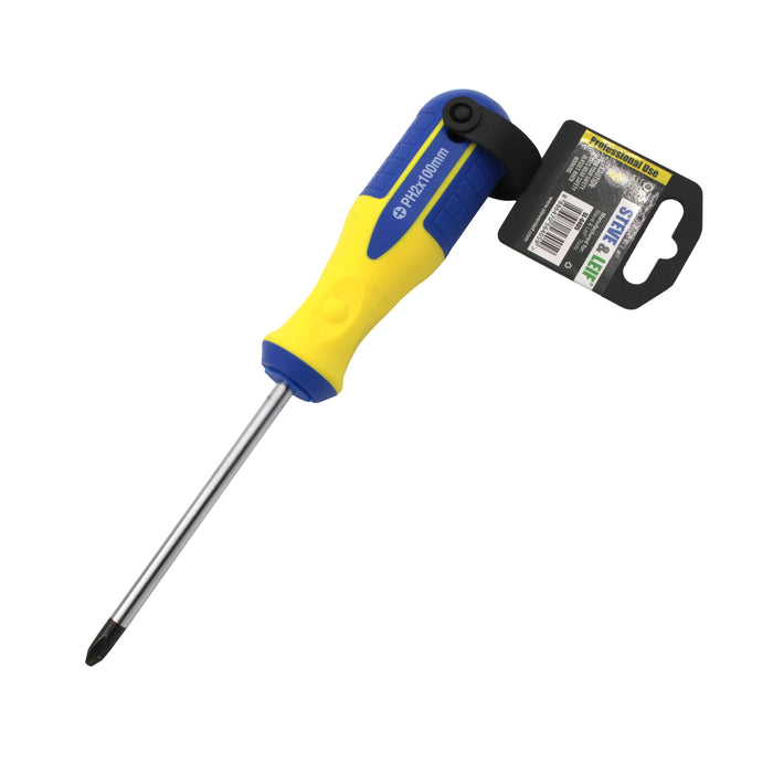 4 inch Yellow/Blue Phillips Screwdriver (6x100mm)