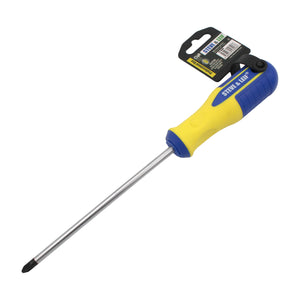 6 inch Yellow/Blue Phillips Screwdriver (6x150mm), ,Steve & Leif - greenleif.sg