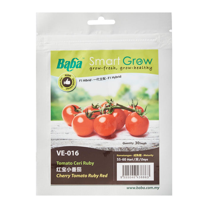 Hybrid Cherry Tomato Ruby Red Seeds  VE-016 (30 Seeds)