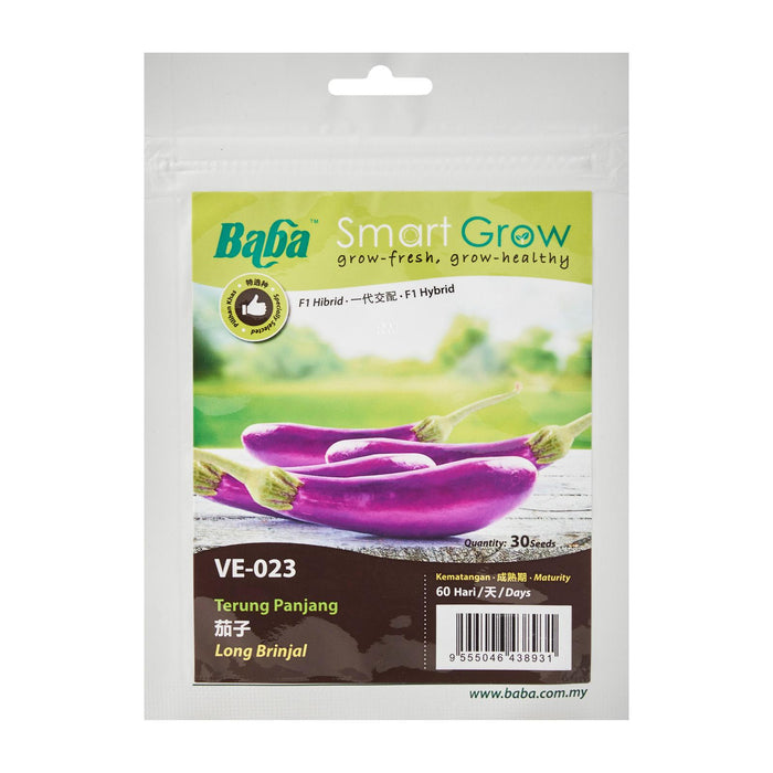 Hybrid Long Brinjal Seeds VE-023 (30 Seeds)