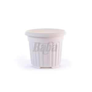 Round Pot XXL 392MM (Zen White), Planter Pot,Baba - greenleif.sg
