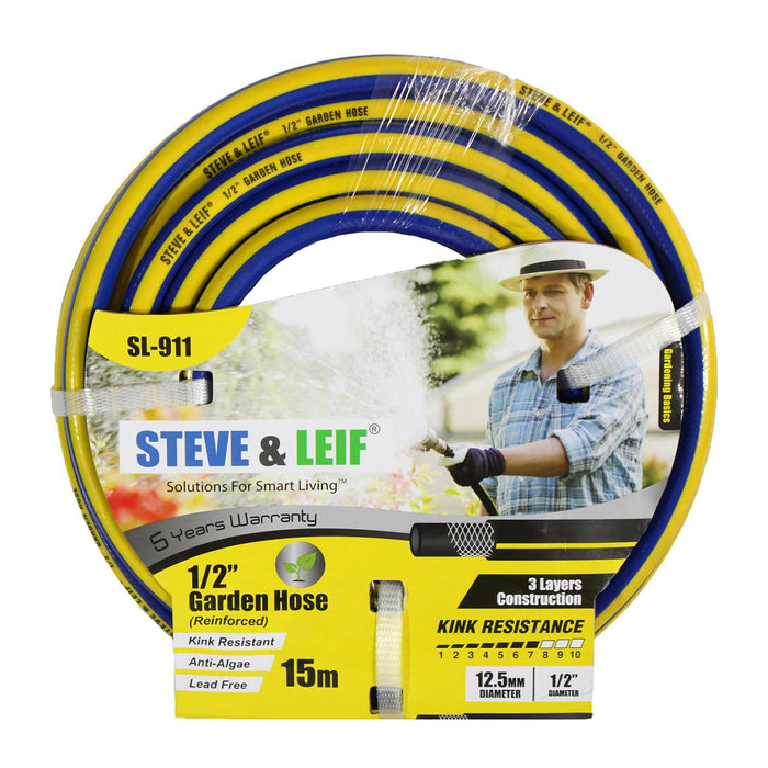 "1/2"" 15M Blue/Yellow Garden Hose"