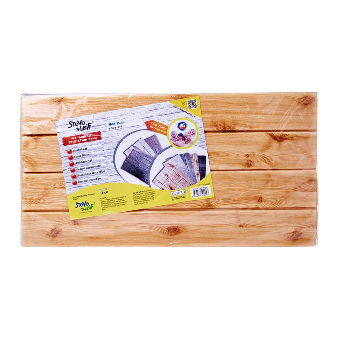 Light Wood Parquet Wall Protection Foam (30 x 60cm)