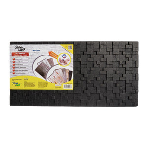 Black 3D Embossed Wall Protection Foam (30 x 60cm), ,Steve & Leif - greenleif.sg
