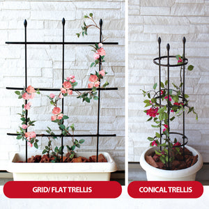 Multi Function DIY Gardening Fan Trellis Plant Support Ladder (90cm), ,Steve & Leif - greenleif.sg