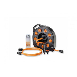 8974 AQUAPASS HOSE REEL SET WITH 15M HOSE AND ADJUSTABLE SPRAY, ,Claber - greenleif.sg