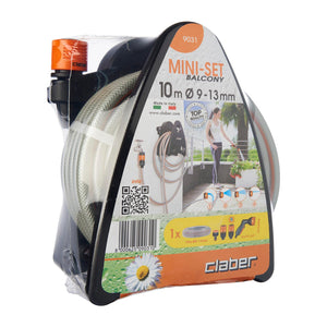 9031 MINI-SET BALCONY HOSE REEL WITH 10M HOSE AND MULTI-FUNCTION SPRAY PISTOL, ,Claber - greenleif.sg