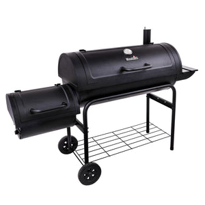 "American Gourmet 40"" Offset Smoker BBQ Charcoal Grill"