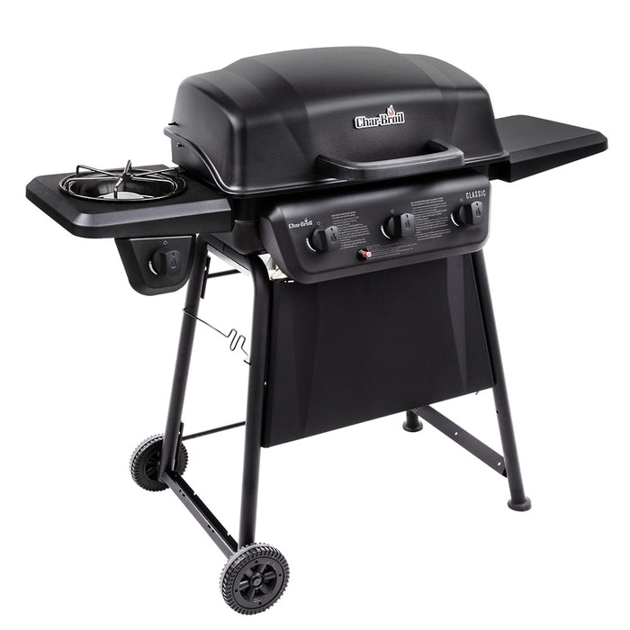 Classic 3-Burner Gas BBQ Grill With Side Burner