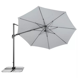 Pendulum Parasol Umbrella RAVENNA AX 330 (Light Grey), ,Doppler - greenleif.sg