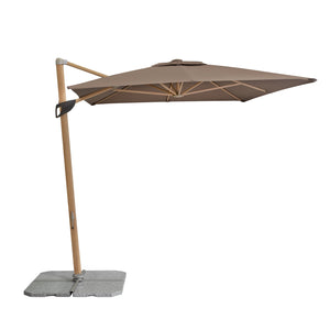 ALU WOOD Cantilever Parasol Umbrella (Greige) [Base Not Included], ,Doppler - greenleif.sg