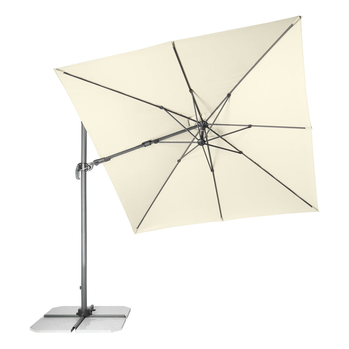 Cantilever Parasol RAVENNA AX (White) 2.75x2.75m [Base Not Included]