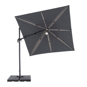 Cantilever Parasol RAVENNA AX (LED) with Base, ,Doppler - greenleif.sg