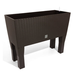 Rato Case High Basket Weave Flower Pot (800 x 330 x 650mm) - Umber, ,Prosperplast - greenleif.sg