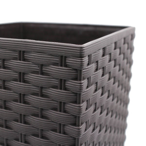 Rato Square Basket Weave Flower Pot (170x324mm)