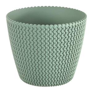 Splofy Round Basket Wave Pot (157x132mm) - Green, Planter Pot,Prosperplast - greenleif.sg