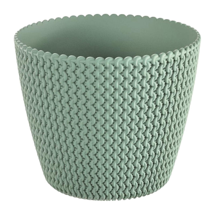 Splofy Round Basket Wave Pot (157x132mm) - Green