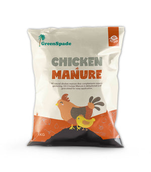 GreenSpade Composted Chicken Manure Fertilizer 1kg, ,Green Spade - greenleif.sg