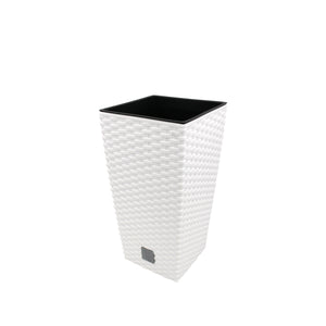 Rato Square Basket Weave Flower Pot (170x324mm), ,Prosperplast - greenleif.sg