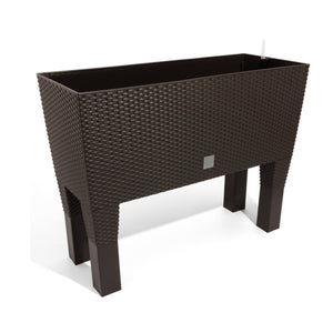 Rato Case High Basket Weave Flower Pot (600x250x460mm) - Umber, ,Prosperplast - greenleif.sg