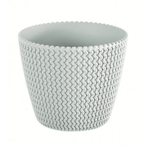 Splofy Round Basket Wave Pot (130x108mm), ,Prosperplast - greenleif.sg