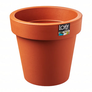Lofly Pot (245x225mm) - Terracotta, ,Prosperplast - greenleif.sg