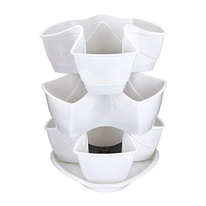 Coubi Stackable 3 Layers Herbal Pots (White)