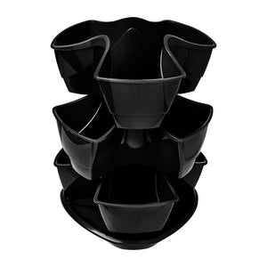 Coubi Stackable 3 Layers Herbal Pot (Dark Grey)