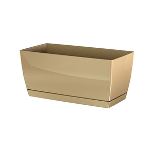 Coubi Rectangular Pot (290x142x136mm) - Milk Coffee, ,Prosperplast - greenleif.sg