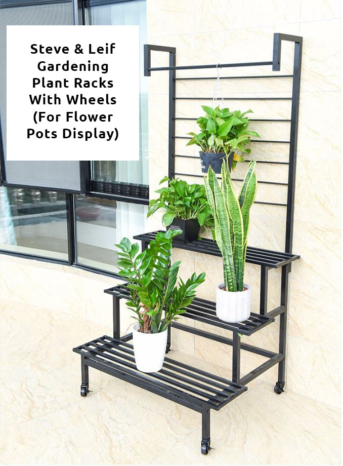 2 - 3 Steps Gardening Plant Rack With Wheels for Flower Pots