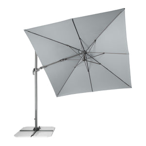 Cantilever Parasol RAVENNA AX (Light Grey) [Base Not Included], ,Doppler - greenleif.sg