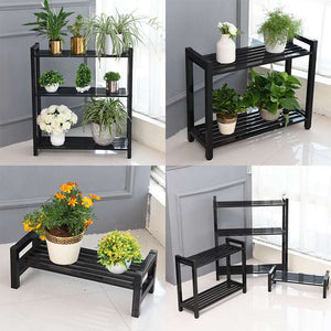 2 Steps Gardening Plant Rack (Black)