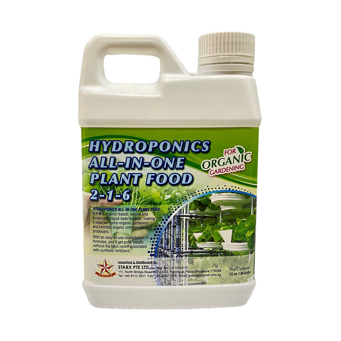 Hydroponics All-In-One Plant Food 2-1-6 (1 Ltr)