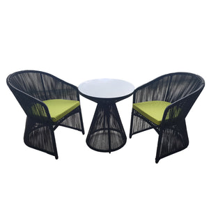 3PCS LINEAR OUTDOOR TABLE AND CHAIR SETS, Outdoor Furniture,Others - greenleif.sg