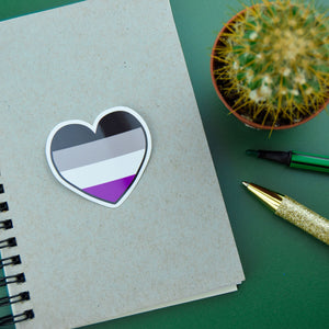 Asexual Heart Sticker - Luna