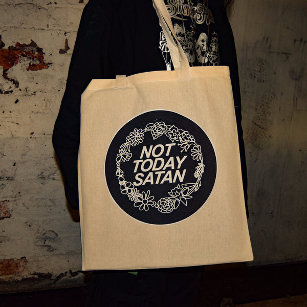 Not Today Satan Tote Bag - Luna