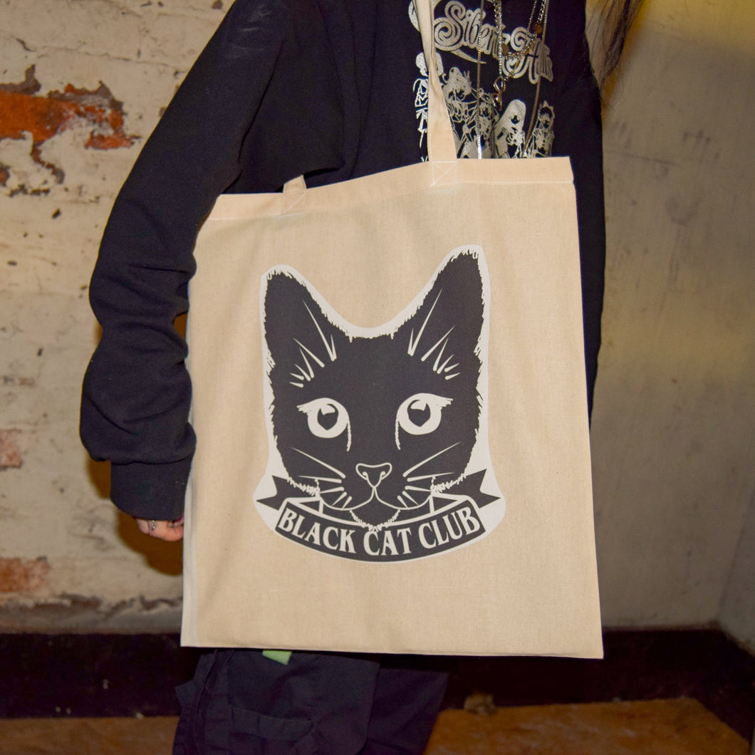 Black Cat Club Tote Bag - Luna