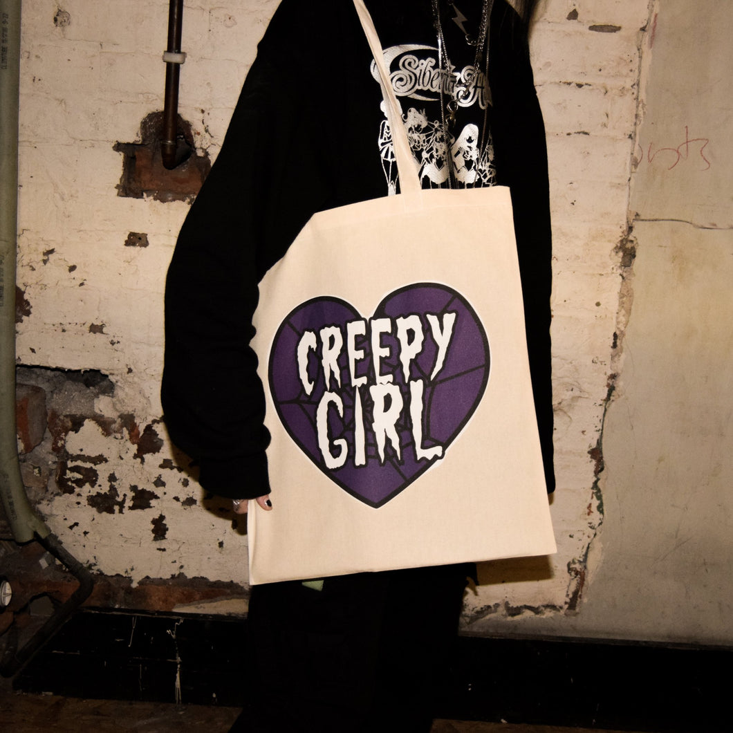 Creepy Girl Tote Bag - Luna