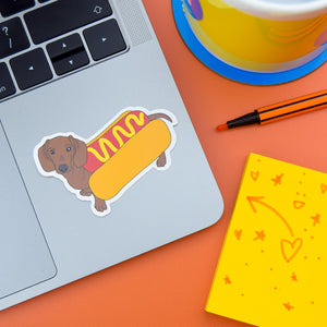 Hot Dog Dachshund Sticker - Luna