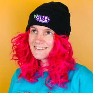 Don't Be a Dick Patch Black Beanie - Shop Luna